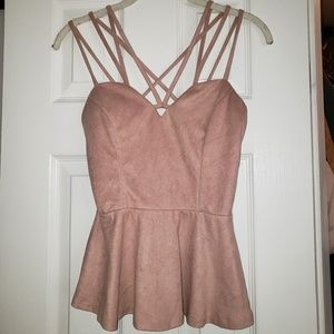 Like New Rose Charlotte Russe Top